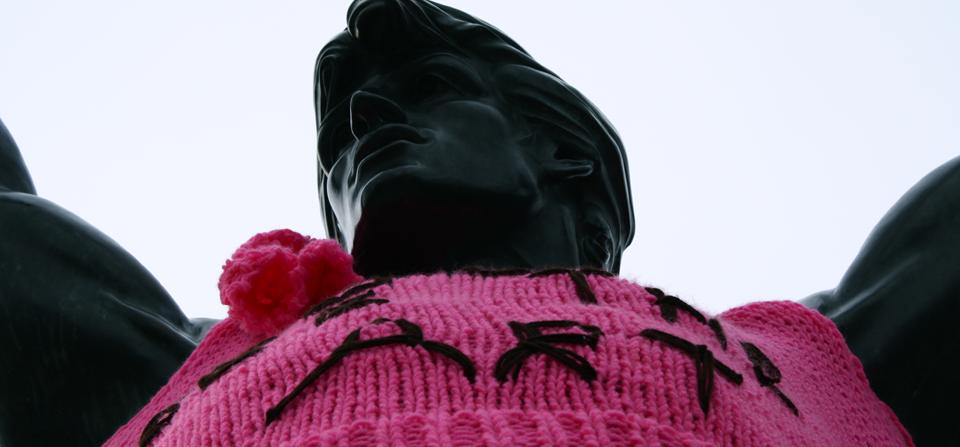 Rocky Statue Yarn Bomb, Philadelphia